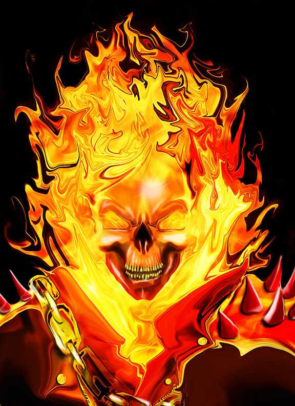 Ghost Rider Real fire